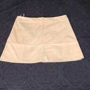 Cute fake suede mini skirt